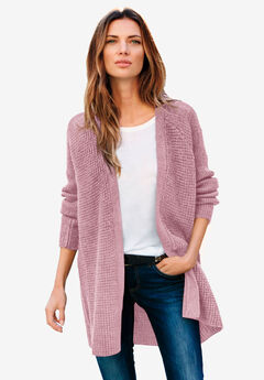 Open Front Waffle Cardigan by ellos®,