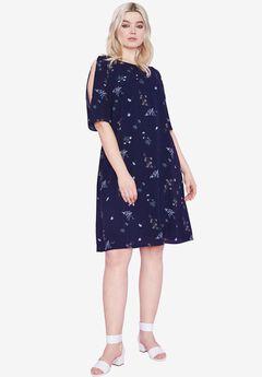 Cold-Shoulder Dress by ellos®,