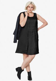 Pleated Sleeveless Dress by ellos®,