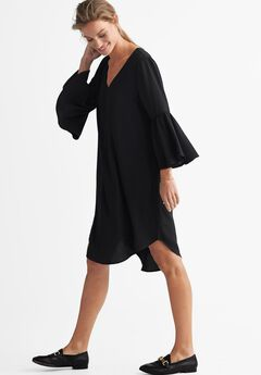 2991a5016c8 Flounce Sleeve A-Line Dress by ellos®