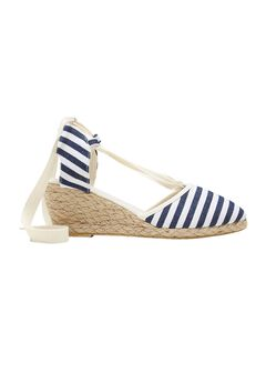 Lace-Up Espadrille Wedges by ellos®,
