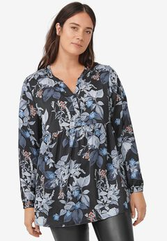 Y-Neck Popover Tunic by ellos®,