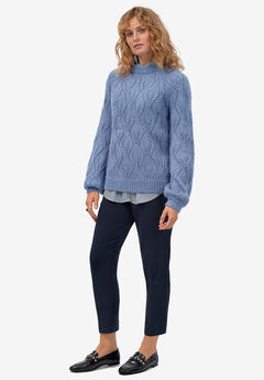 Pointelle Pullover by ellos®, DARK CLOUD