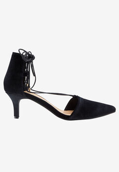 Lace-Up Velvet Pump by ellos®,