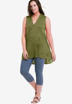 Crossover V-Neck Sleeveless Tunic by ellos®,