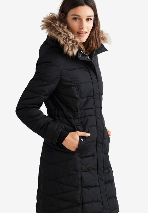 0f87f1b5589 Faux Fur Trim Puffer by ellos®