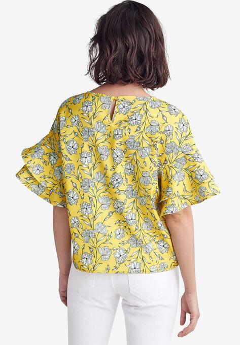 Flutter Sleeve Boxy Blouse by ellos®