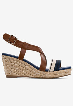 Contrast Strap Wedge Sandal by ellos®,