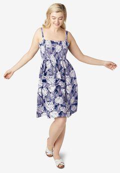Smocked Bodice Tank Dress by ellos®,