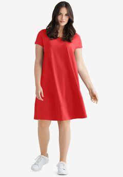 Short Sleeve Tee Dress,