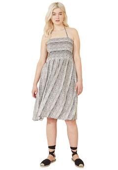 Smocked Halter Tie Dress by ellos®,