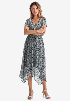 Sheer Surplice Dress by ellos®,