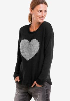 Love Ellos Sweater, BLACK GREY