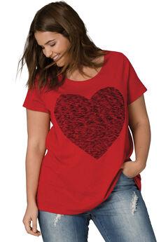 Love Ellos Tee, CLASSIC RED HEART