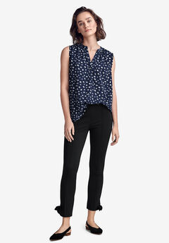 Ankle Tie Ponte Pants by ellos®, BLACK