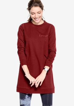 Love Tunic Sweatshirt by ellos®,