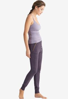Marled Zip Pocket Sweatpants by ellos®, SMOKY PURPLE MARLED