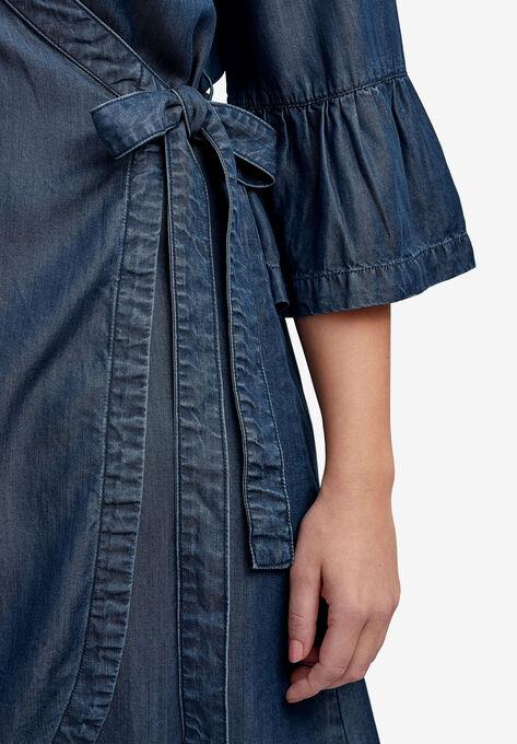 83f37eff412 Tencel Denim Wrap Dress by ellos®