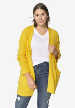Pointelle Sleeve Cardigan by ellos®,