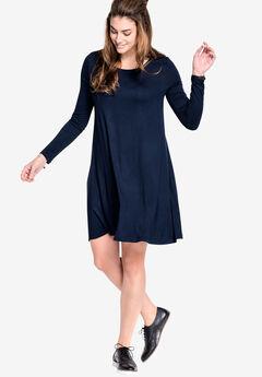 Chelsea Knit Dress by ellos®, NAVY