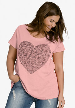 Love Ellos Tee by ellos®, ROSE BLUSH HEART