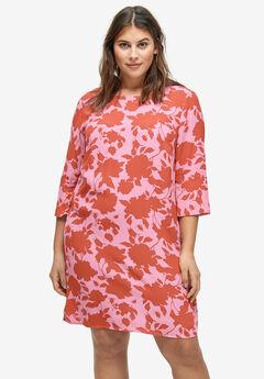 Slit-Sleeve Shift Dress by ellos®,