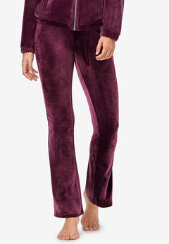 Velour Bootcut Lounge Pants by ellos®, MIDNIGHT BERRY