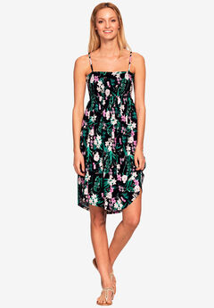 Smocked Bodice Tank Dress,