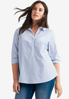 Stretch Popover Shirt by ellos®,