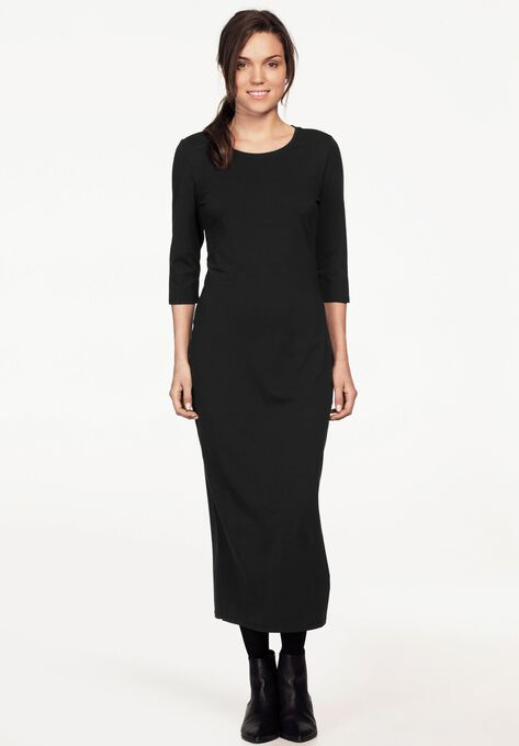 3 4 Sleeve Knit Maxi Dress By Ellos Alternate