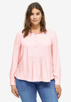 Shirred Yoke Blouse by ellos®,