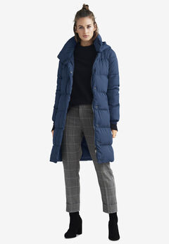 Long Hooded Puffer by ellos®, MIDNIGHT BLUE