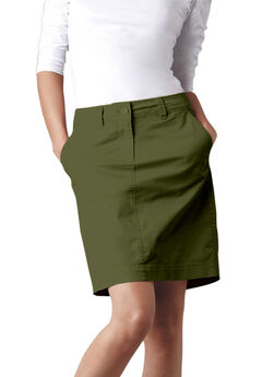 Chino Skort by ellos®, DARK BASIL
