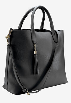 Multi-Strap Tote Bag by ellos®, BLACK