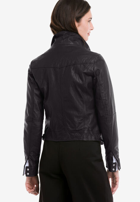 ee92c956414a8 Zip Front Leather Jacket by ellos®
