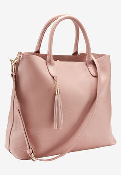 Multi-Strap Tote Bag by ellos®, BLUSH