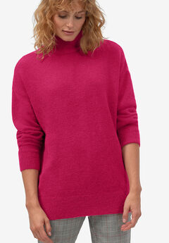 Turtleneck Sweater Tunic by ellos®, RUBY ROSE