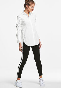 Side Stripe Ponte Leggings,