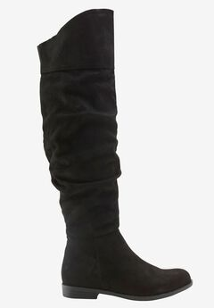 Over-the-Knee Faux Suede Slouch Boots by ellos®,