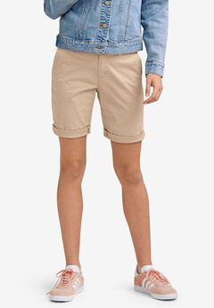 Bermuda Shorts by ellos®, NEW KHAKI