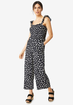 Jumpsuit With Smocked Bodice,