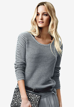 Chunky Knit Sweater by ellos®, GUNMETAL