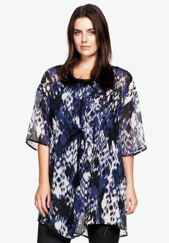 Sheer Printed Tunic by ellos®,