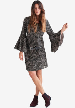 Dewdrop Ruffle Sleeve Dress by ellos®,