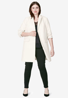 Long Boyfriend Blazer by ellos®, STONE