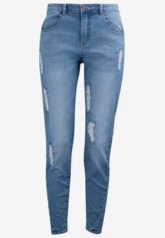 Distressed Girlfriend Jeans by ellos®,