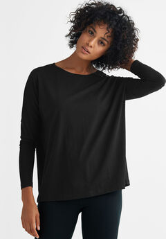 Boxy Sleep Tee by ellos®, BLACK