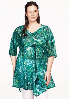 Sheer print tunic by ellos®,