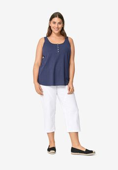 Seamed Capris by ellos®, WHITE