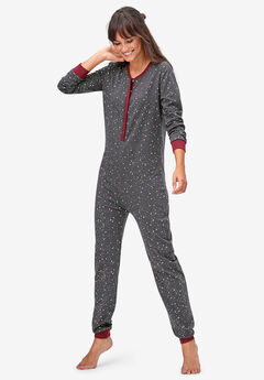 Henley One-piece Pajamas by ellos®,